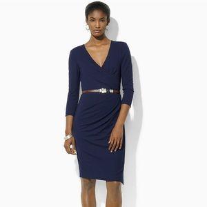 Lauren Ralph Lauren Dress, Faux-Wrap Belted